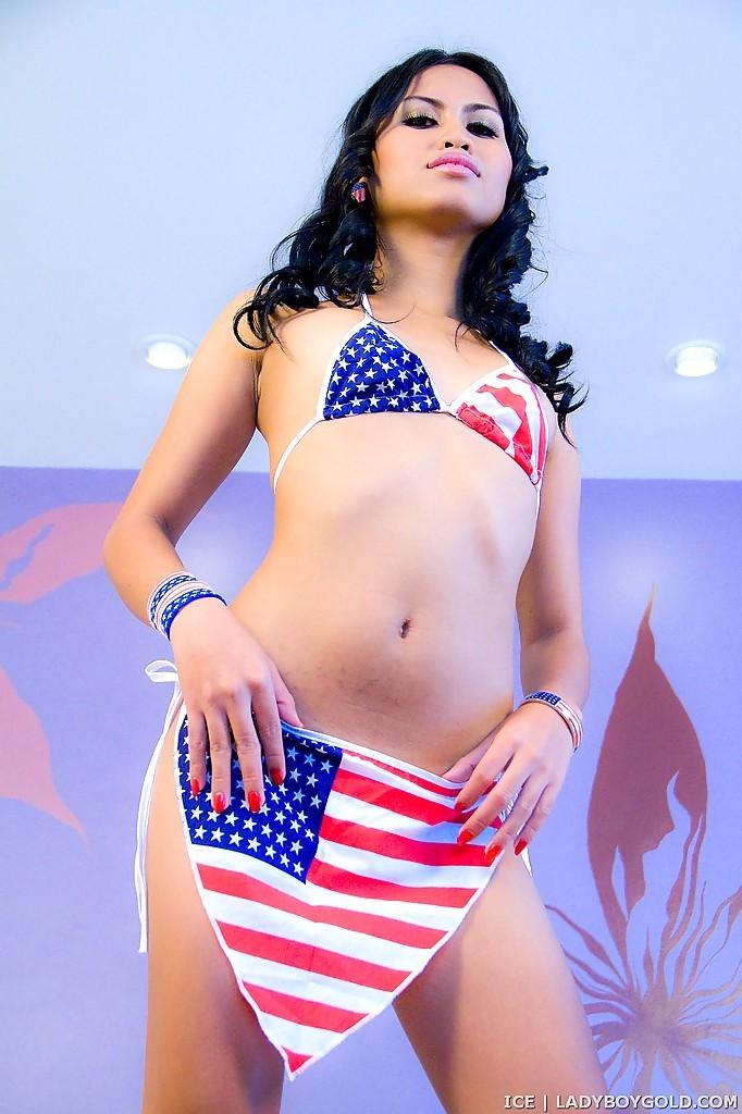 Wild Femboy Ice Goes From Bikini Clad To Naked Thai T-Girl Bitch
