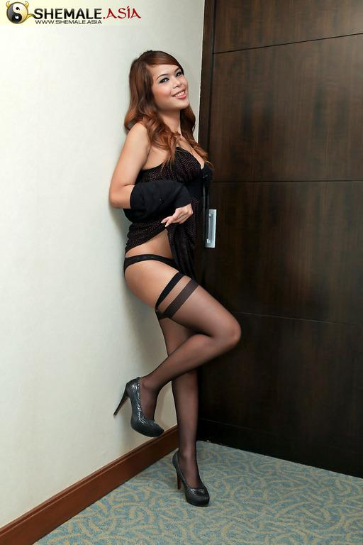 Naughty Tgirl Secretary Stripping Naked At The Office