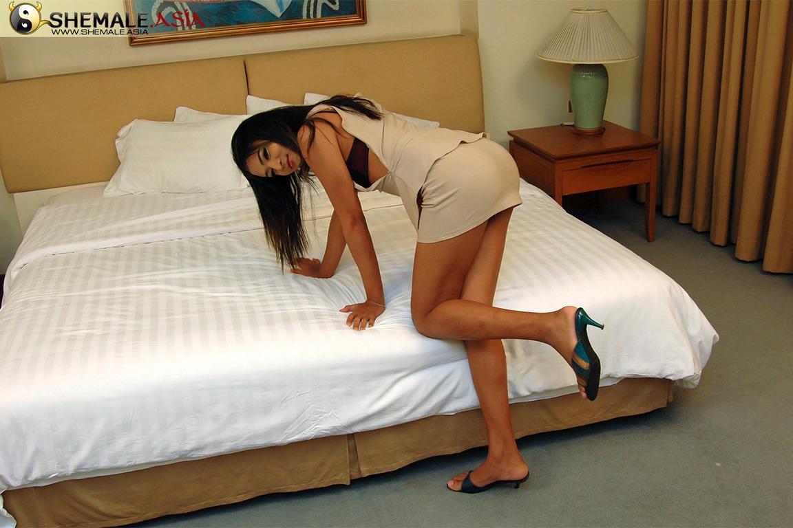 Cute Teen Tgirl In Bikini Exposing Her Nice Asian Penis