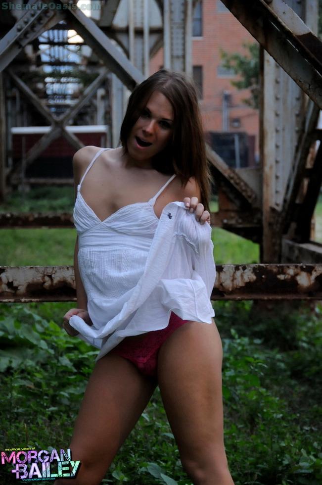 Transexual Ashley George - Train Tracks