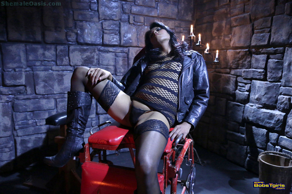 Exotic Transexual Malena - Malena Leather And Lace