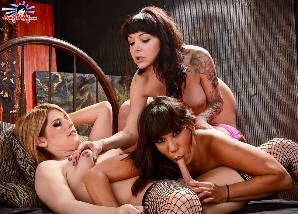 Tgirl Amy Daly - With Danielle Foxx And Gg Ava Devine Some