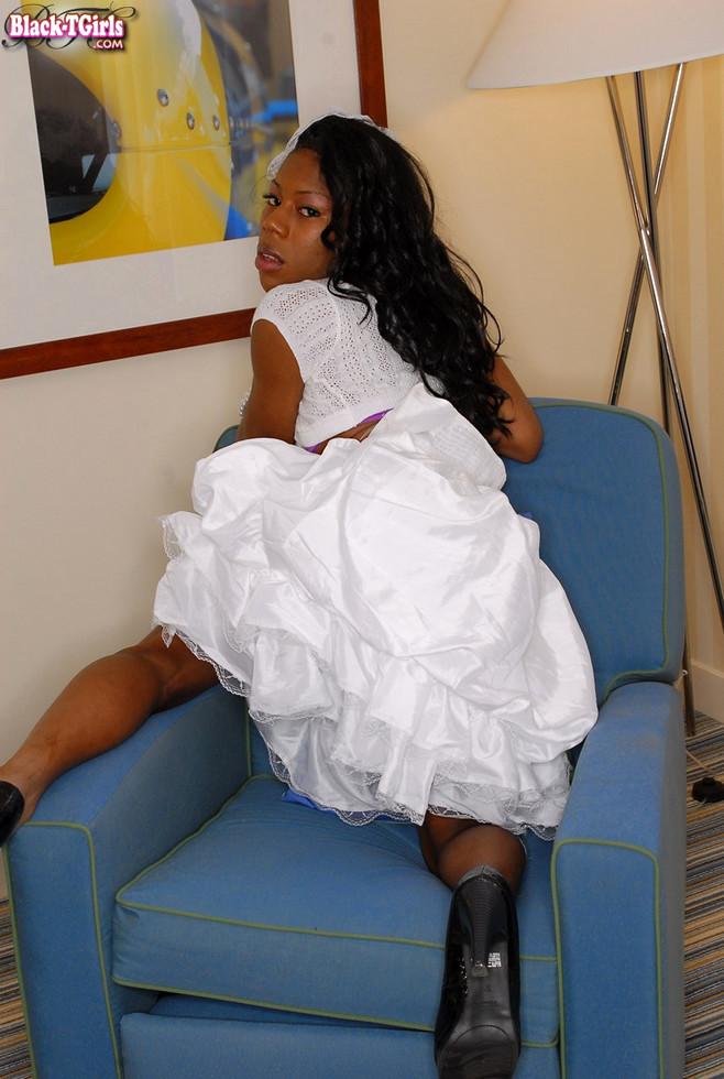 Black T-Girl Babydoll