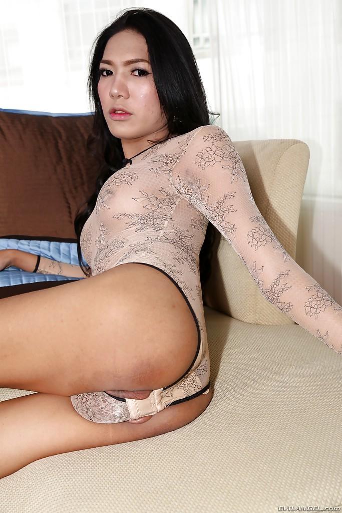 Solo Brunette Thai Femboy Nan Spreading For Huge Shaved Penis Exposure