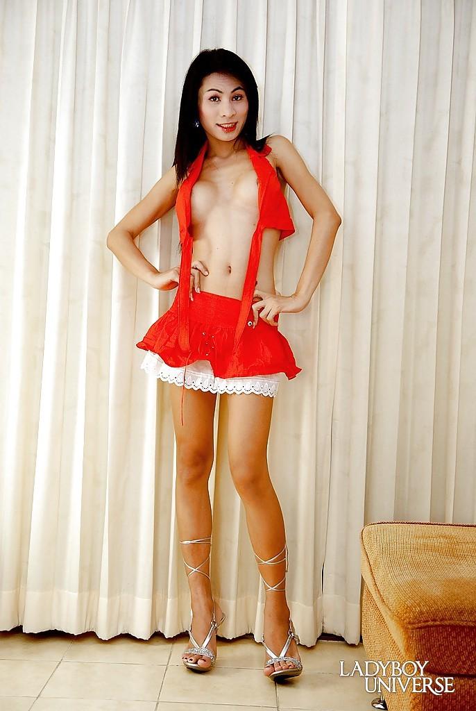 Beautiful Thai T-Girl Bel Posing In High Heels And Hot Skirt