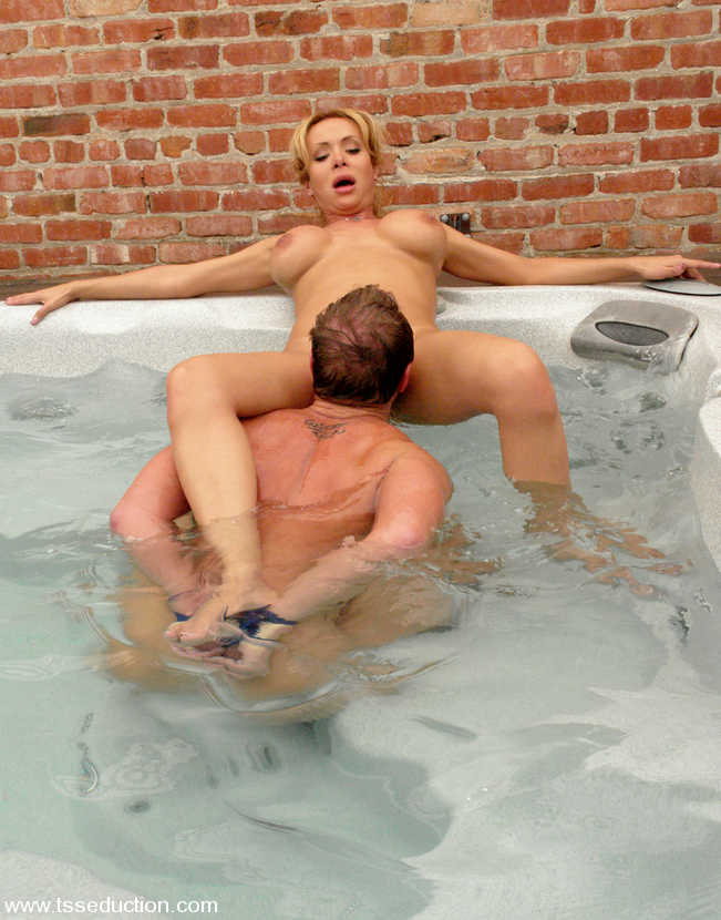 Busty Blonde Tgirl Gia Darling Using Her Massive Breasts To Make A Man Spunk