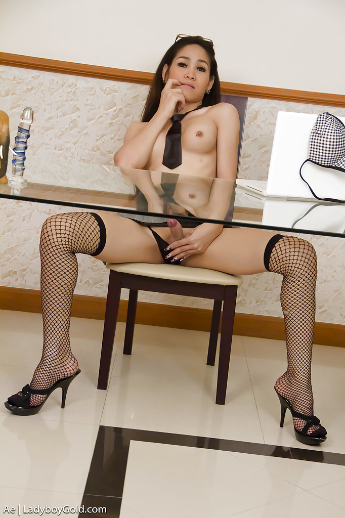 Young Thai Transexual Ae Gets Kinky At The Office By Stripping Nude