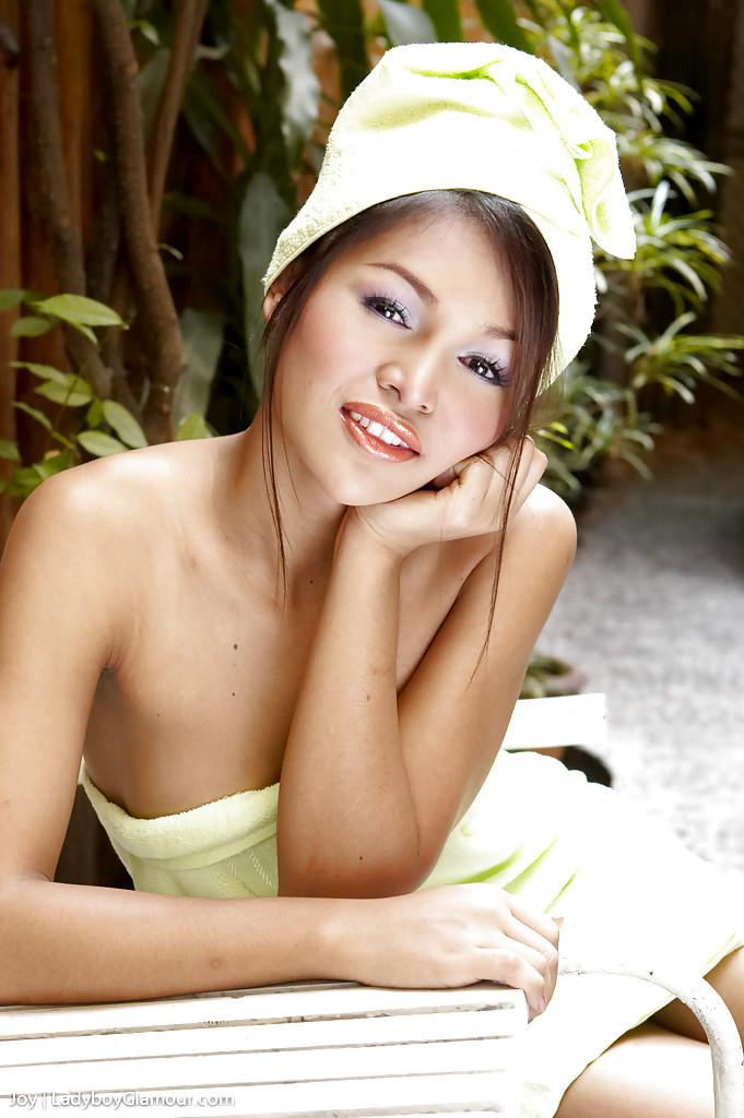 Cute Thai T-Girl Joy Masturbating Off Her Tgirl Tool Outdoors