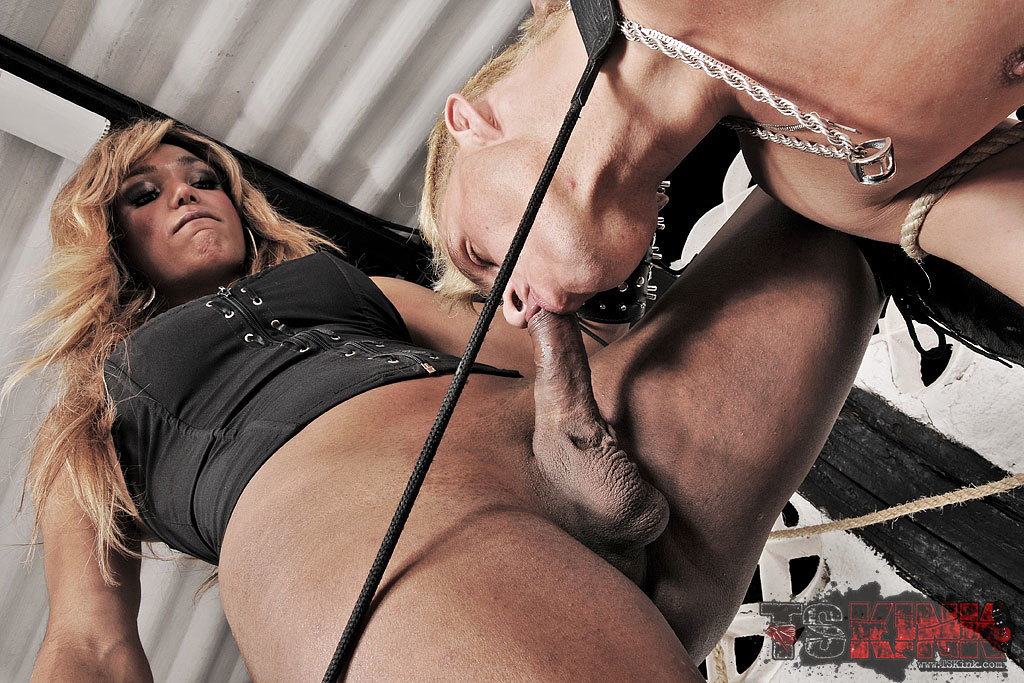 Dominant TGirl Treats Her Slave Bad