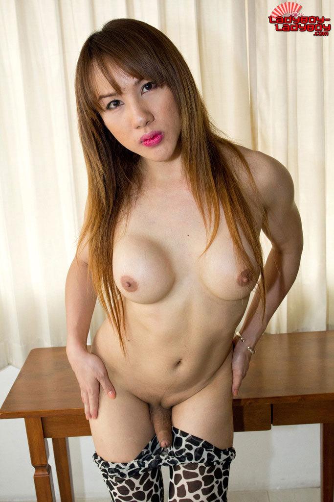 Attractive Curvy Thai Tranny In Tight Leggings