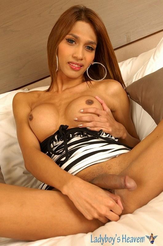 Thai Ts Yoyo Show Off Her Massive Titties